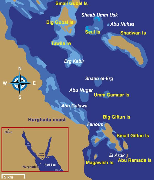 Karte Forschungsgebiet