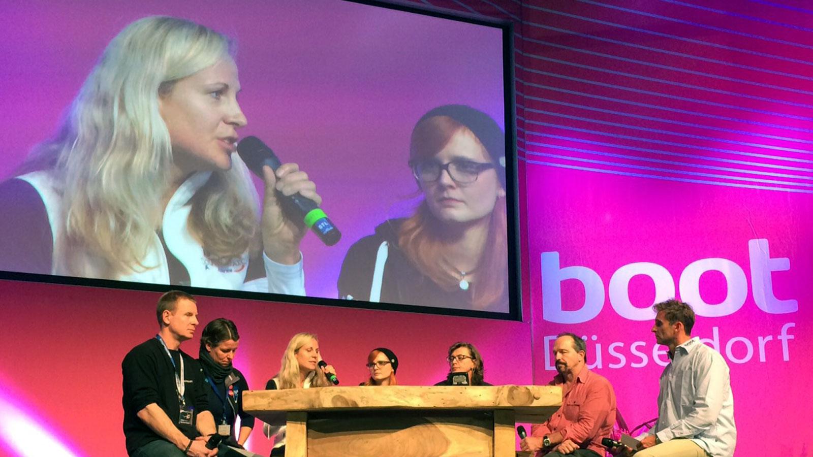 Vortrag von Angela Ziltener an der Boot 2015