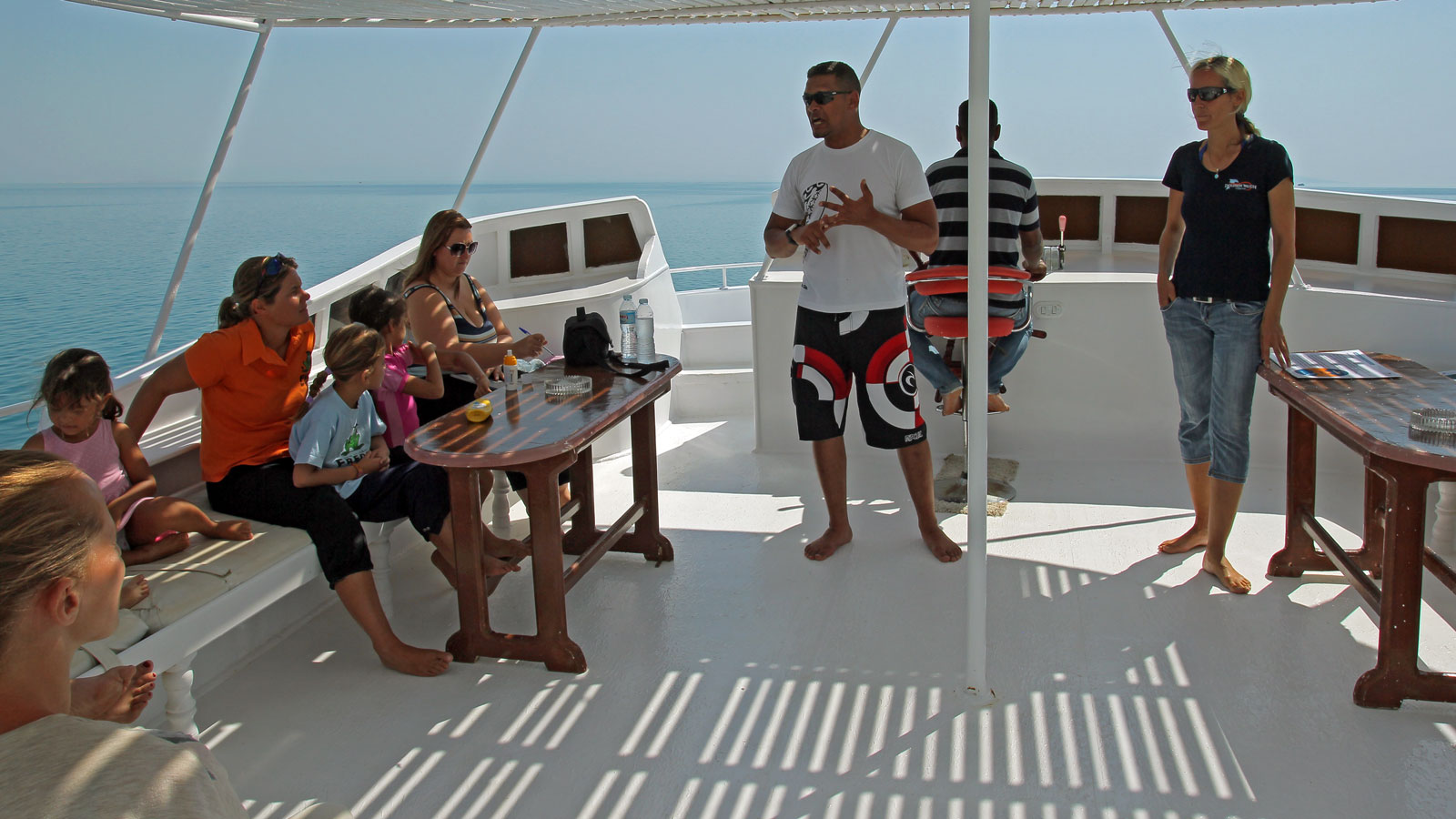 Vortrag auf dem Boot von Orca Dive Clubs