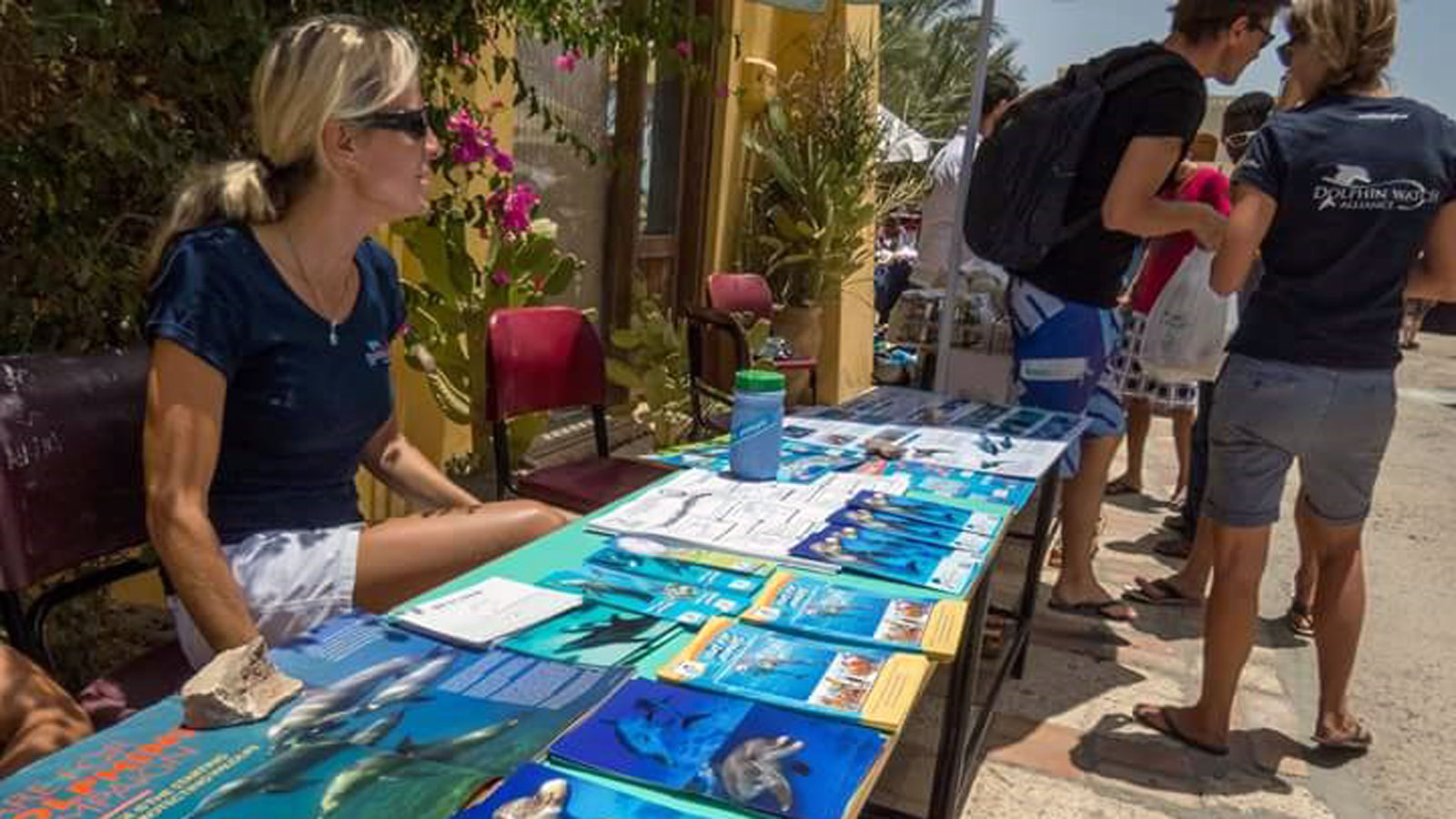 Care for Dolphins am Flohmarkt