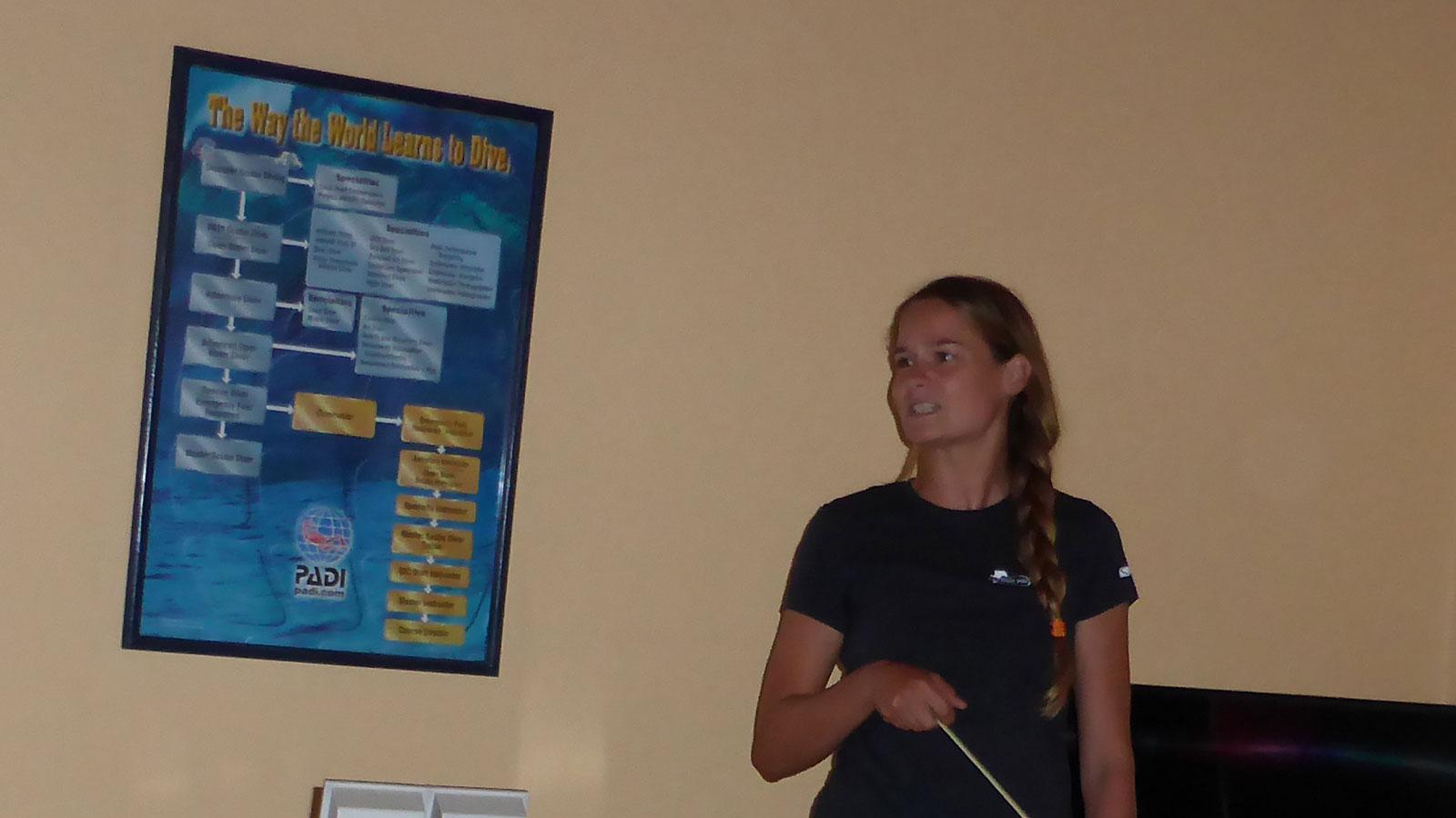Sina Kreicker beim Blue Water Dive Resort