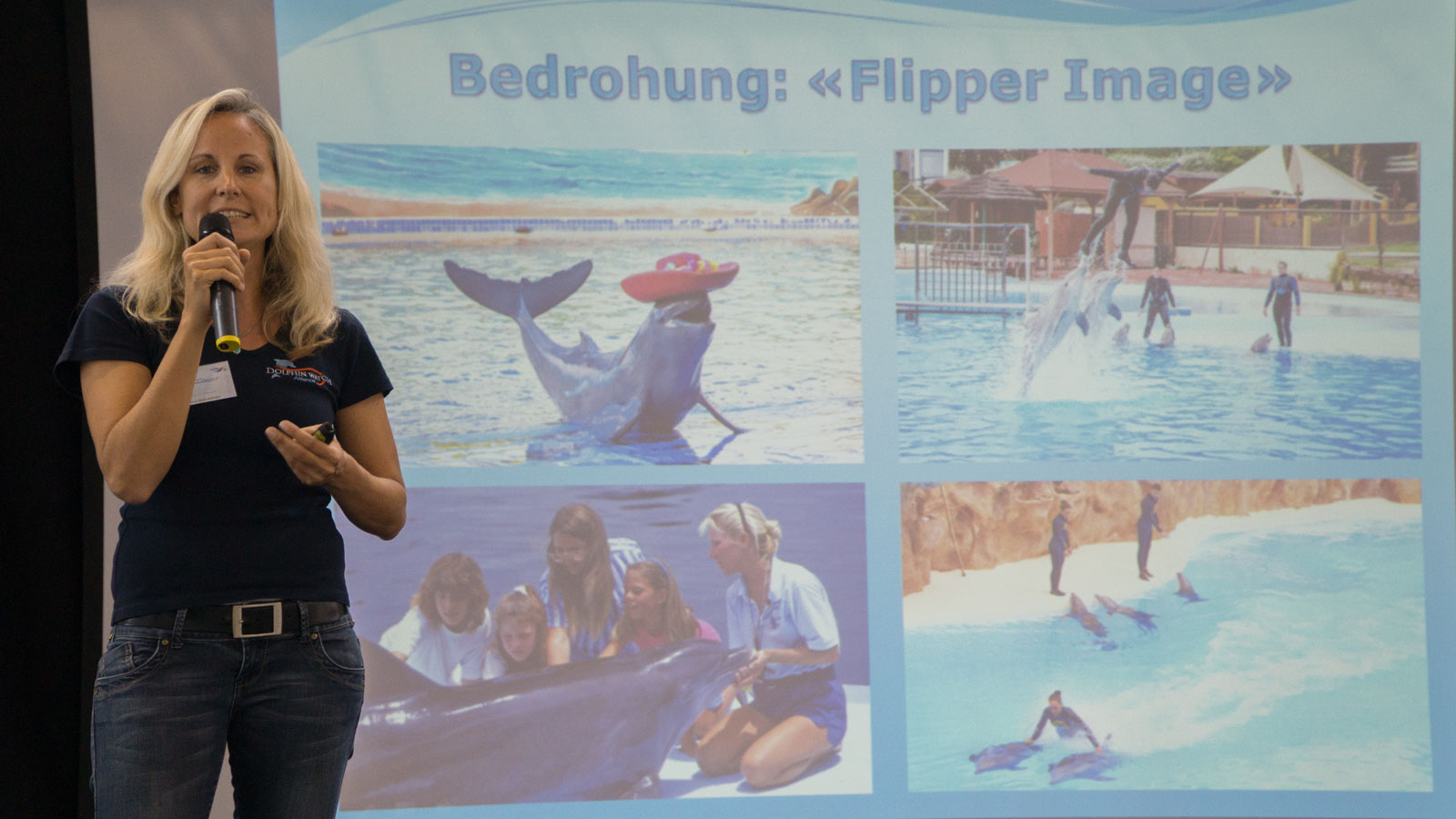 Angela Ziltener über die Bedrohung der Delfine