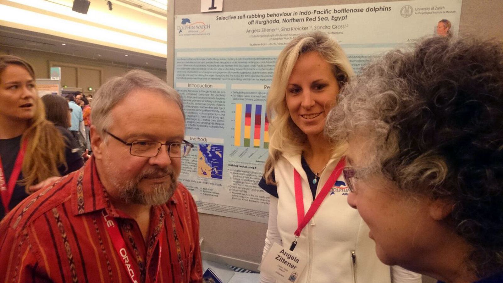 Angela Ziltener an der 21st Biennial Conference on the Biology of Marine Mammals in San Francisco