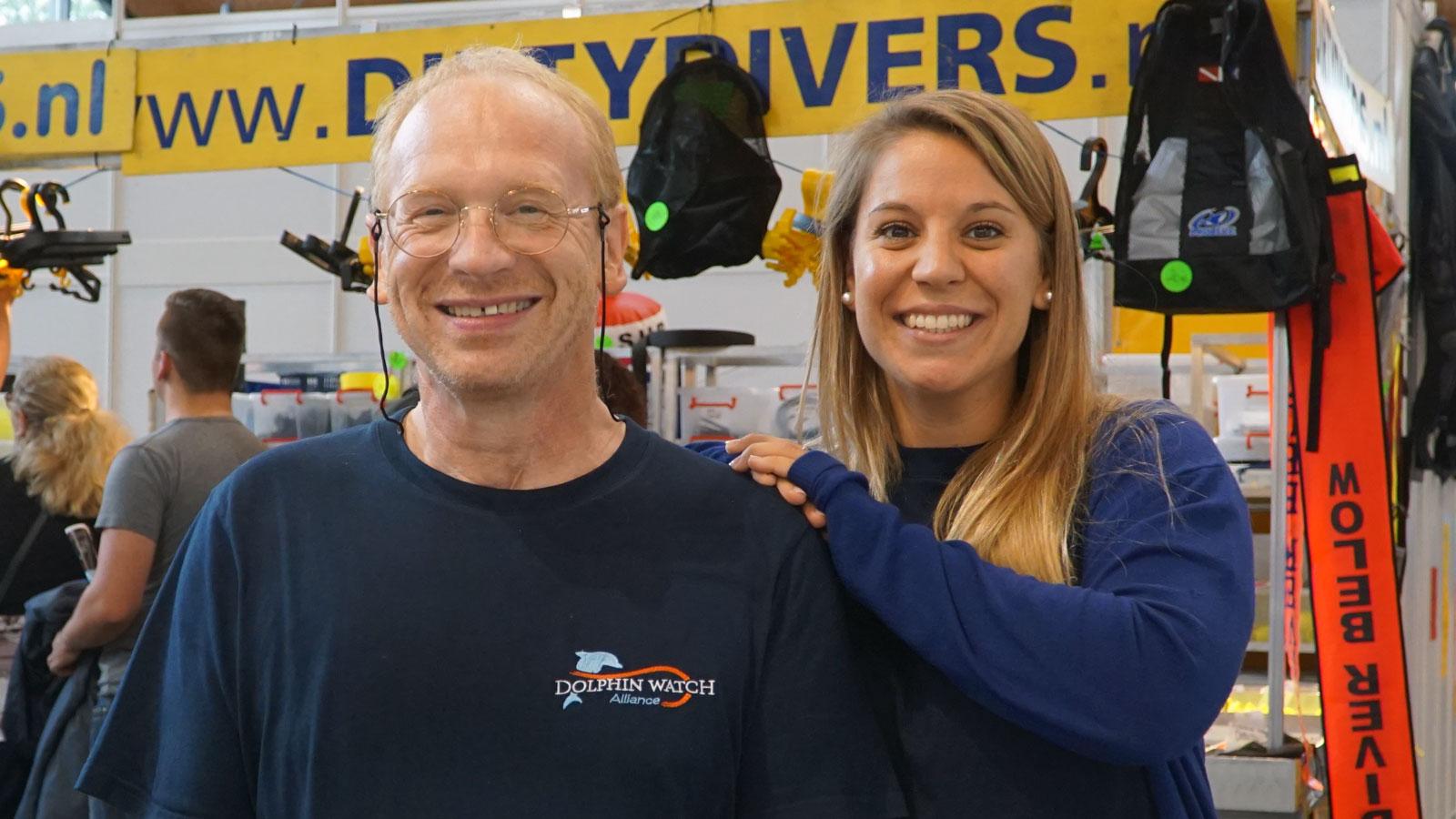 Team an der InterDive: Marcus Gisi und Sandra Gross