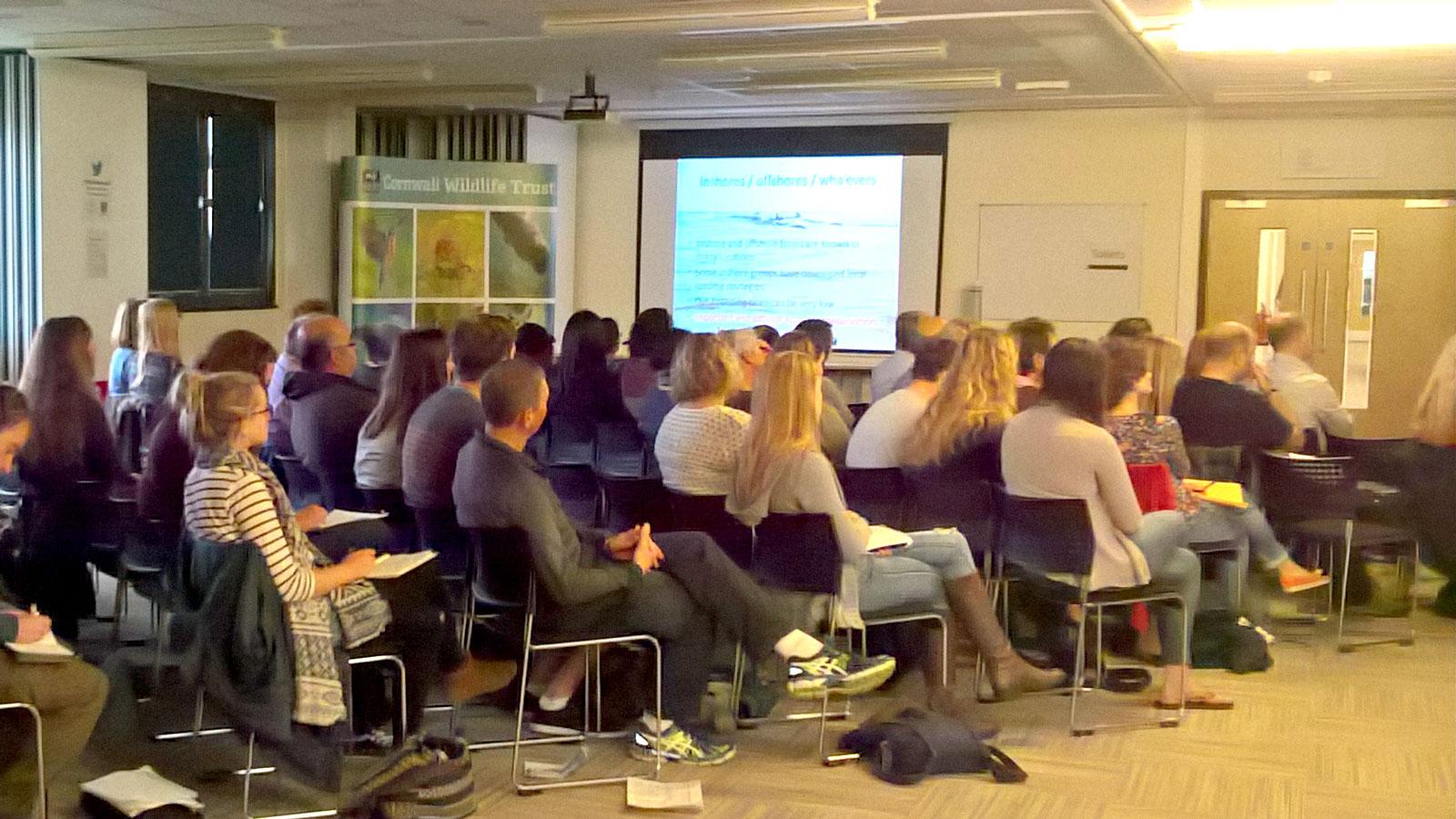 Präsentation von Angela Ziltener am Southwest Bottlenose Dolphin Forum