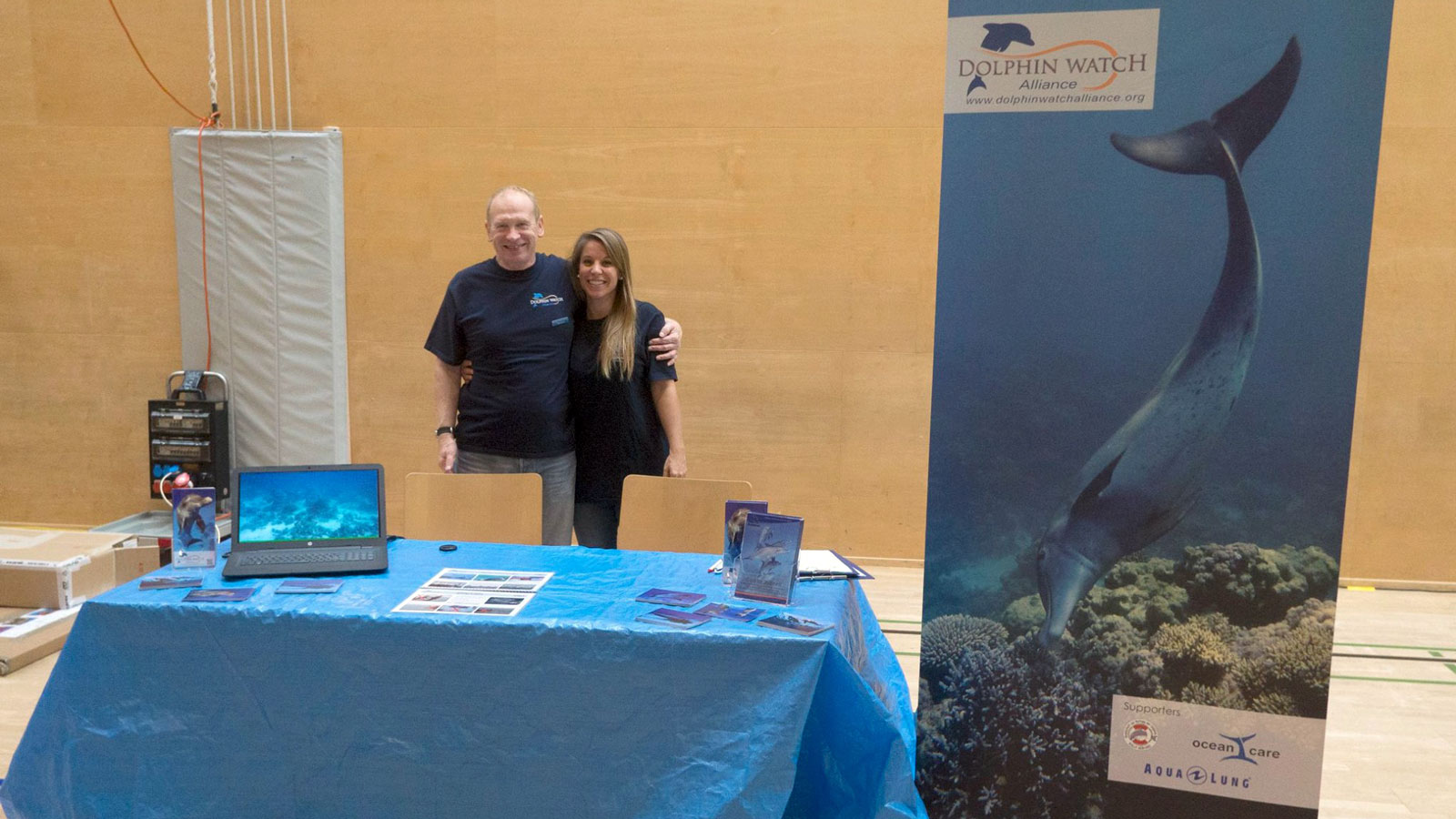 Sandra Gross and Marcus Gisi at the Underwater Festival in Gossau