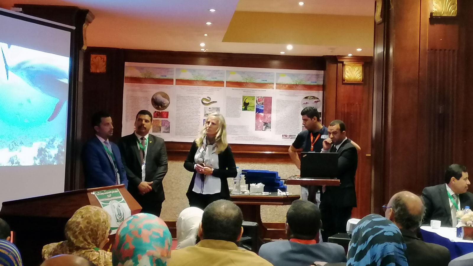 Vortrag von Angela Ziltener an der Sadat City University Conference