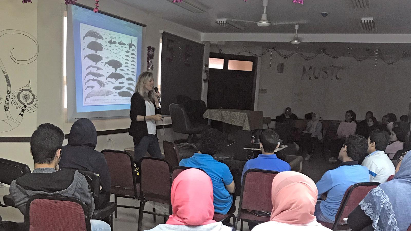 Vortrag zum Schutz der Delfine