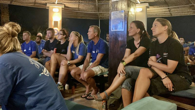 Angela Ziltener from the Dolphin Watch Alliance visits Coraya Divers