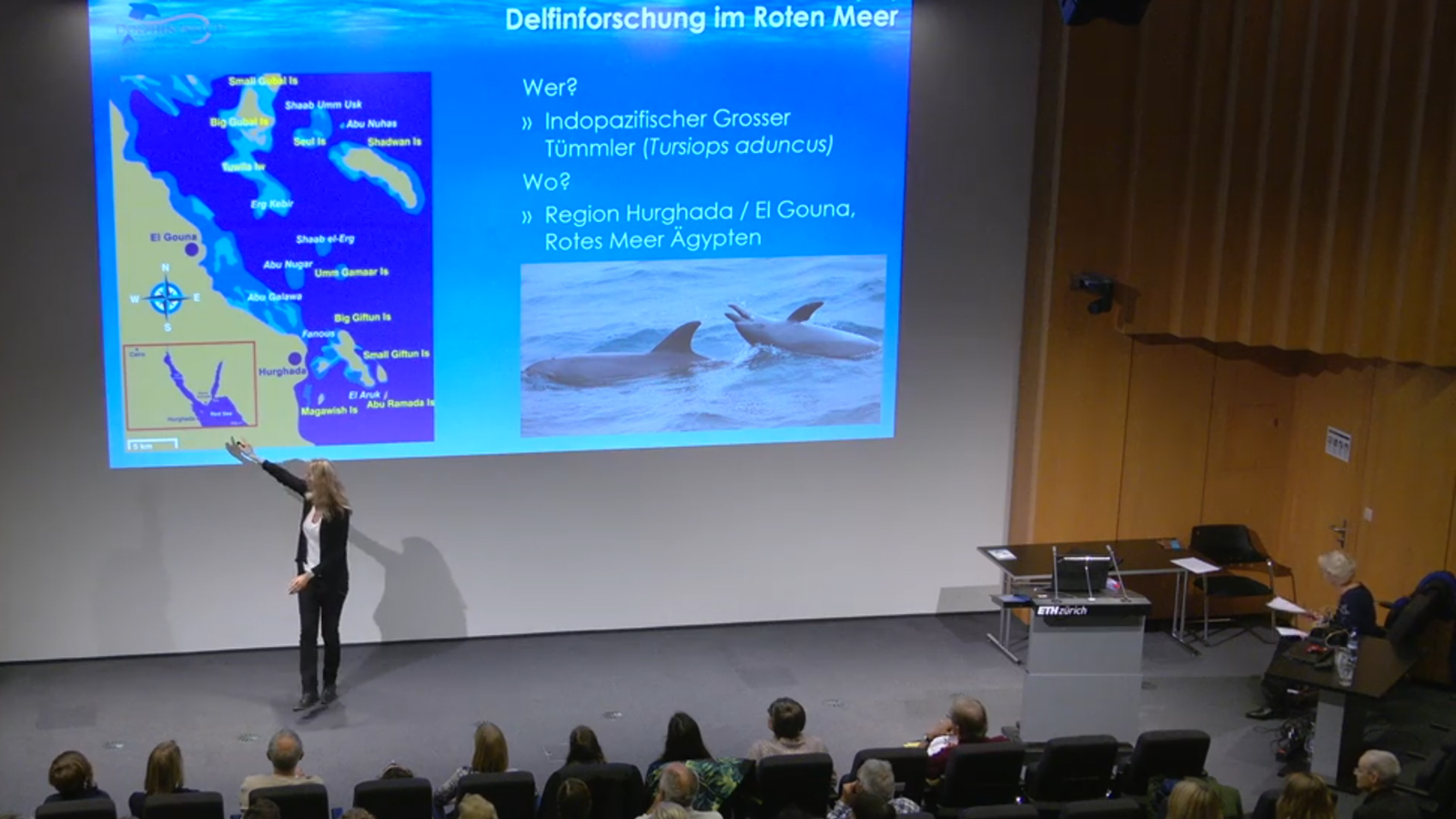 Lecture by Dolphin Watch Alliance at the Science City days at ETH Zurich