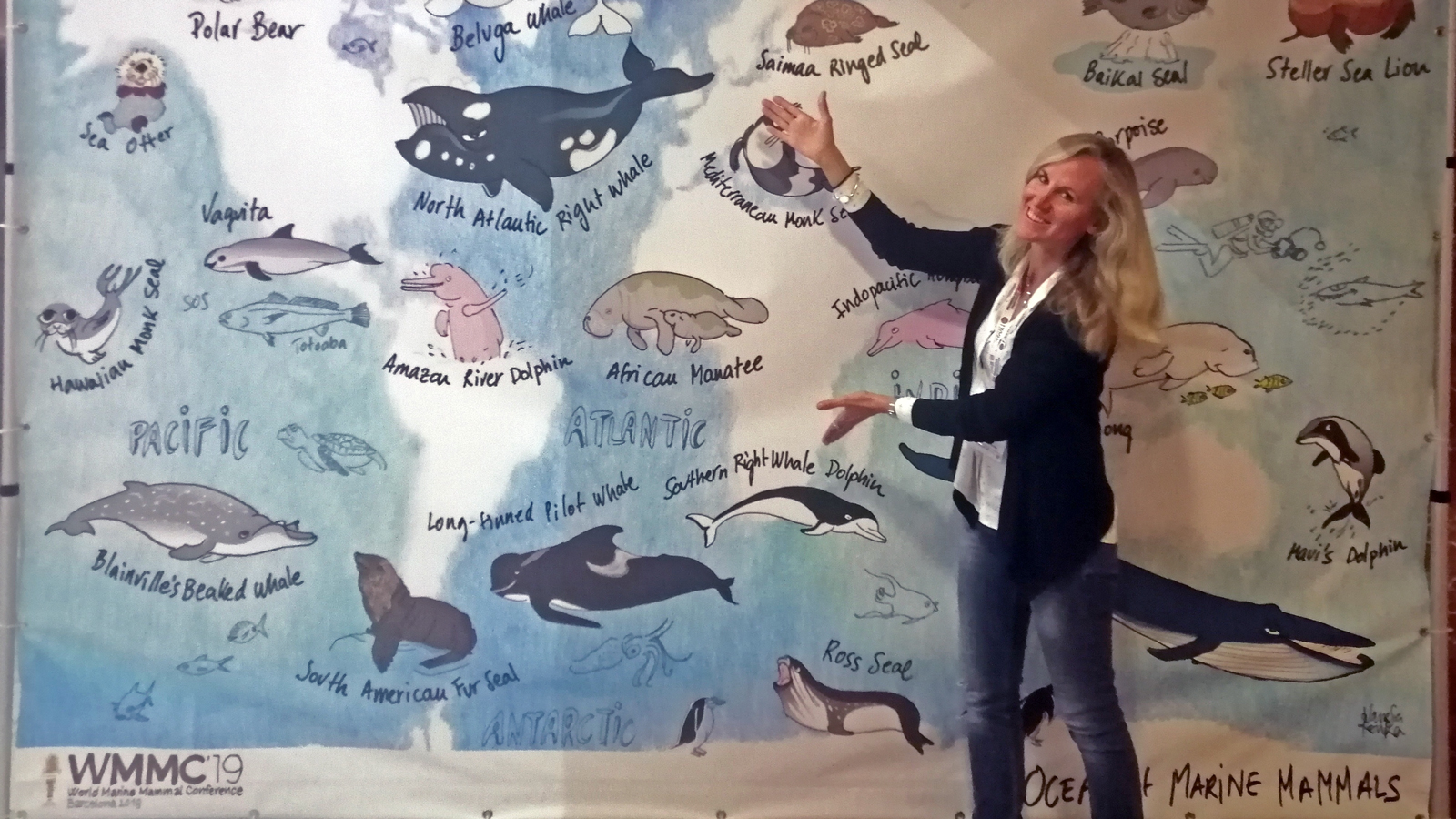 Angela Ziltener at World Marine Mammal Conference in Barcelona